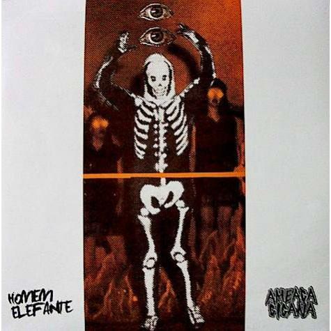 Homem Elefante / Ameaça Cigana - split LP