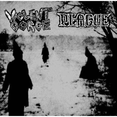 Plague / Violent Gorge - split LP