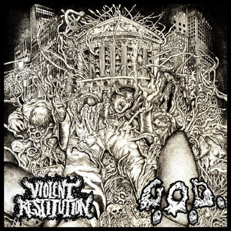 G.O.D. / Violent Restitution - split 7''