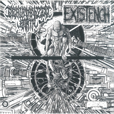 "Dehumanized Earth / Existench - split 7"""