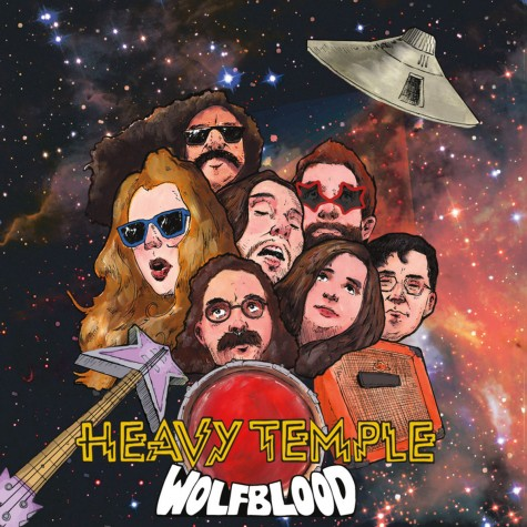 """Heavy Temple / Wolf Blood – Split From The Black Hole 7"""""""