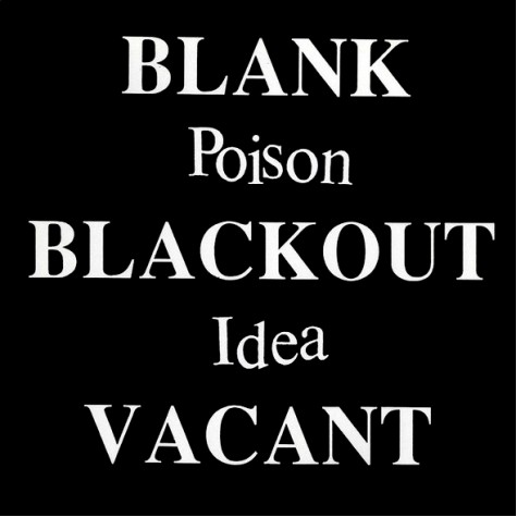 Poison Idea - Blank Blackout Vacant CD